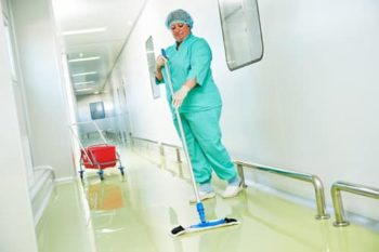 health care cleaning floor